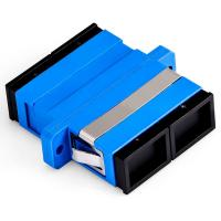 China Blue Color Fiber Optic Cable Adapter Single Mode Duplex For FTTX Network on sale
