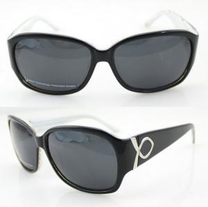 Quality Lightweight Acetate Frame Sunglasses , Black Polarized Sunglasses wholesale