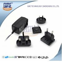 Quality GME Switching Power Adapter , Interchangeable Plug Power Adapter 24VDC wholesale