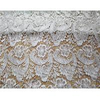 Cheap Garment Accessories Chemical Lace Fabric Water Soluble lace fabric in White for sale