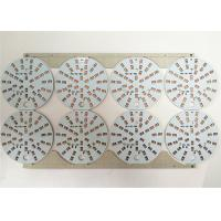 China Durable LED Light PCB Board White Soldermask Aluminium With ENIG / HASL Surface on sale