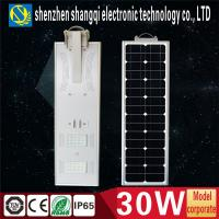 China Waterproof IP65 Solar Powered Led Garden Lights 30 Watts For Roadway CE ROHS on sale