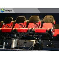 Quality Movie Equipment Pneumatic 7D Cinema System Standard Red Chair With Leg Sweep wholesale