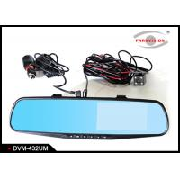 Quality HD Dual Lens Car DVR Rear View Carmera Mirror Monitor Night Vision 4.3 Inch TFT LCD Display wholesale