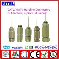 China CATV/SATV high quality 2-piece Hardline Connector & Adaptor for TVC,COMCAST and PPC on sale