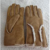 Genuine leather gloves fur gloves winter double face shearing gloves