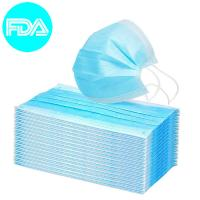 China Non Woven Disposable Blue Surgical Medical Face Mask Disposable Mouth Cover 3 Ply Earloop Surgical Mask on sale