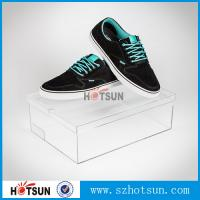 Quality Customized color and logo printed acrylic shoe box, Factory Custom Made Clear Storage Shoe Box wholesale