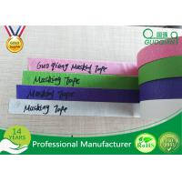 China Colored Crepe Paper without Residue Rubber Masking Tape 30m 48m Length on sale