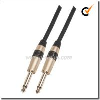 China Black 6mm PVC Spiral Guitar Cable Instrument Cables (AL-G019) on sale