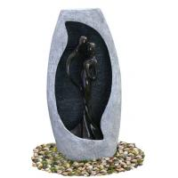 Quality Handmade Fiberglass Resin Large Outdoor Water Fountains With Lights , 53x21x107cm wholesale