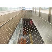 China 304 316 Rope Stainless Steel Woven Wire Mesh For Protection Zoo / School / Farm on sale