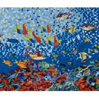 Quality Sea Creatures Exquisite Mosaic Tiles Designs Patterns , Large Mosaic Garden Wall Art wholesale