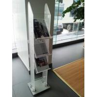 Quality Frosted Acrylic Pop Display ,Perspex Magazine Stand With Logo wholesale