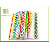 Quality Personalized Pink Party Paper Straws For Holidays 197MM Logo Printable wholesale