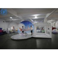 China Hot Air Welding Large Inflatable Snow Globe / Custom Christmas Ornaments on sale