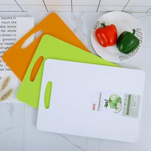 China Non Slip  Green Fruit Plastic Chopping Board Mat For Kitchen on sale