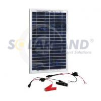 Quality Custom 12V 20W Poly - Crystalline Portable Solar Battery Chargers for Hunting and Marine wholesale