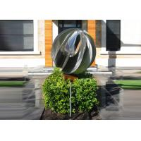 Quality Attractive Stainless Steel Sphere Sculpture / Contemporary Steel Sculpture wholesale
