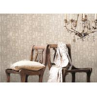 Quality Removable Non-woven Vintage Style Living Room Wallpaper With Geometric Pattern,Anti-static wholesale