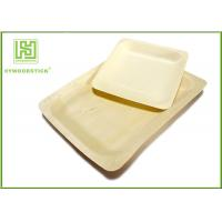 Quality 10'' Thanksgiving Holiday Disposable Wooden Plates Natural Barbecue / Sandwich Tray For Picnic wholesale