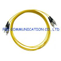 Quality FTTH FC Fiber Optic Patch Cord Duplex Bend Insensitive Fiber Metal Housing wholesale