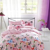 Cheap Modern Home Bedroom 4 Piece Bedding Sets 100% Cotton Tancel Material Butterfly for sale
