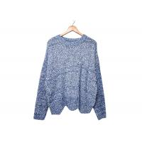 Quality Round Neck Womens Knit Sweater Pleuche Irregular Knitted OEM / ODM Service wholesale