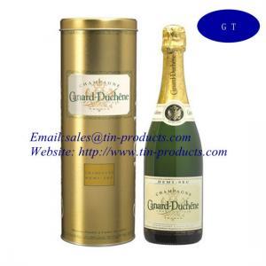 Quality Custom High Quality Wine Gift Boxes, Wine Tin Box/ Round Wine Tin Box, Tin Box for Wine wholesale