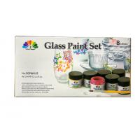 Quality Non - Toxic Art Painting Colours 8 Pcs Glass Paint Set 8X15ml 20 Light Fast Colours wholesale