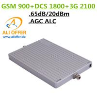 Quality 65dB High Gain 900 1800 2100 MHz Tri-Band Cell Mobile Phone Signal Booster Amplifier,GSM DCS WCDMA 3G TriBand Repeater wholesale