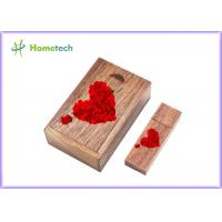 Quality Logo Engaved Usb Wooden Memory Sticks U Disk 5-15MB/S Reading Speed For Wedding wholesale