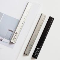 Cheap 30cm  Length Silver Color Alkali Anodized Aluminum Ruler for Realia Made in China for sale