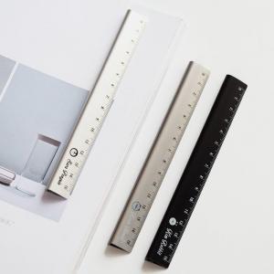 Cheap Silver 30cm Aluminium Extrusion Profiles Alkali Anodized Aluminum Ruler for sale