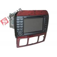 Cheap 1024 * 600 HD 7 Inch Mercedes S Class Dvd Player , Mercedes Benz Car Stereo OBD Support for sale