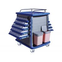 China Double Side Emergency Medication Trolley Reliable With Four Aluminum Columns on sale