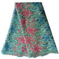 China 2015 Multi Color Quality Metallic Embroidery Water Soluble Lace Fabric For Dress on sale