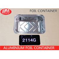Quality 2114 Aluminium Disposable Food Container , Disposable Tin Foil Trays 1000ml Volume wholesale