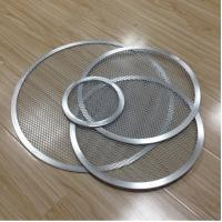 Quality Aluminum Expanded Mesh Wire Pizza Baking Tray , Metal Pizza Net 6-20 Inch Customized wholesale