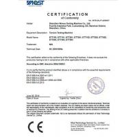Shenzhen Wance Testing Machine Co., Ltd. Certifications