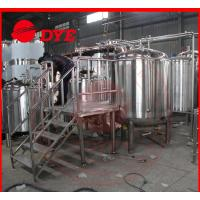 Quality 500L Micro Red Copper Beer Brewing Equipment 100MM Insulation Thickness wholesale