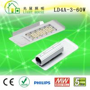 Quality CRI> 80 High Efficiency 60w Led Street Light Waterproof IP66 160 Lm / W wholesale