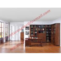 Quality Solid Wooden with Glass Door Material Bookcase Set  for Living Room Furniture wholesale