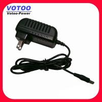 Quality High Efficiency CCTV Power Adapter 6W 12V 500mA , 2 Pin Plug Adapter wholesale