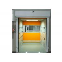 Quality PVC Rolling Shutter Door Cleanroom Air Shower Micro-electronics PLC Control System wholesale