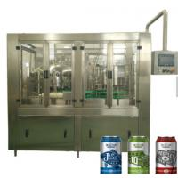 China Cans aluminium juice / beverage / beer filling machine beer can filler aluminum can filling sealing machine in factory p on sale