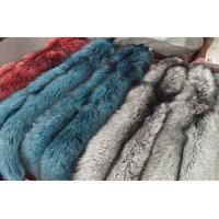 China genuine silver blue red fox fur plates on sale