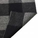 Quality 5.5cm Checked Fake Tartan Wool Fabric / Melton Wool Fabric For Fashion Coat wholesale