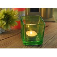 Quality OEM Square Replacement Glass Candle Holder With Different Colors wholesale