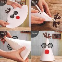 Quality Handmade Felt Christmas Tree Ornaments , Christmas Gift Hat With Antlers wholesale